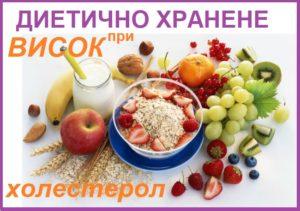 диета при висок холестерол, хранене